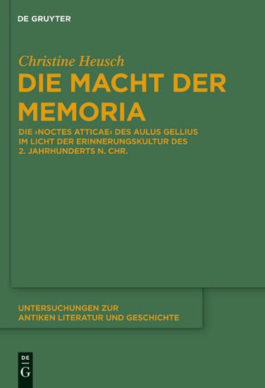 Die Macht der memoria - Blick ins Buch
