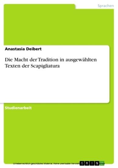 Die Macht der Tradition in ausgewählten Texten der Scapigliatura - Blick ins Buch