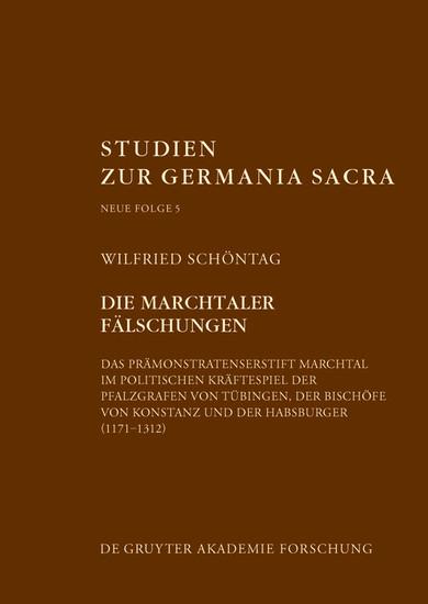 Die Marchtaler Fälschungen - Blick ins Buch