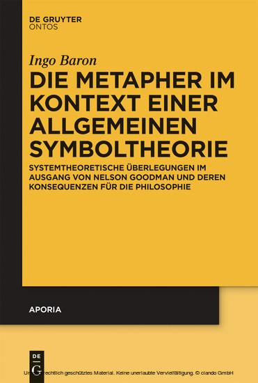 Die Metapher im Kontext einer allgemeinen Symboltheorie - Blick ins Buch