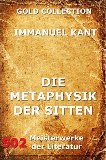 Die Metaphysik der Sitten - Blick ins Buch