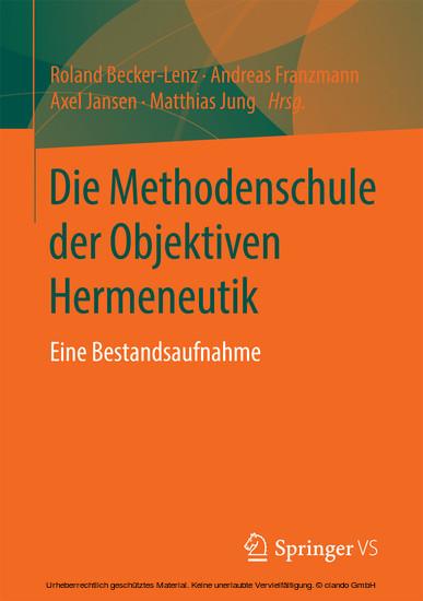 Die Methodenschule der Objektiven Hermeneutik - Blick ins Buch