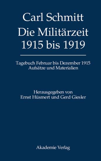 Die Militärzeit 1915 bis 1919 - Blick ins Buch