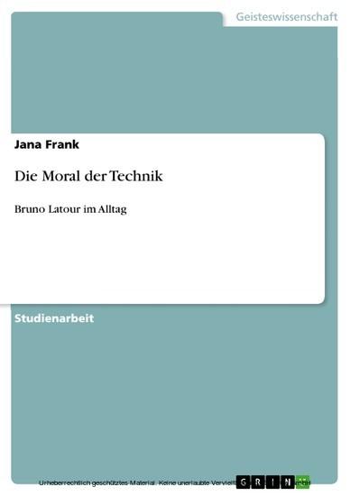 Die Moral der Technik - Blick ins Buch