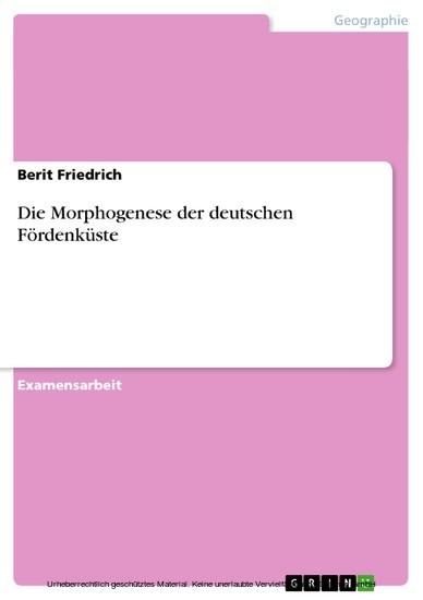 Die Morphogenese der deutschen Fördenküste - Blick ins Buch
