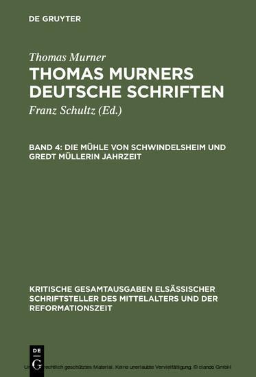 Die Mühle von Schwindelsheim und Gredt Müllerin Jahrzeit - Blick ins Buch