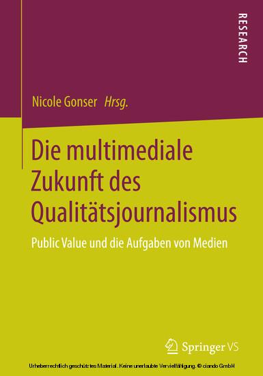 Die multimediale Zukunft des Qualitätsjournalismus - Blick ins Buch