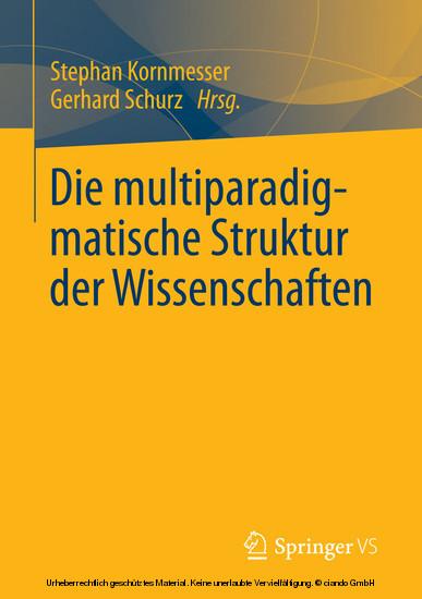Die multiparadigmatische Struktur der Wissenschaften - Blick ins Buch