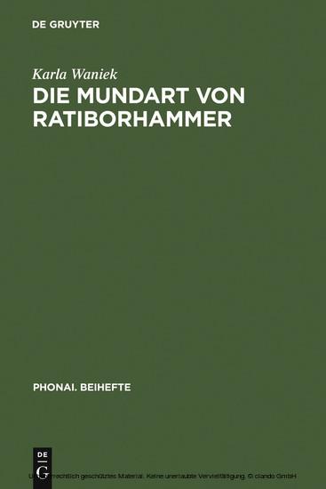 Die Mundart von Ratiborhammer - Blick ins Buch