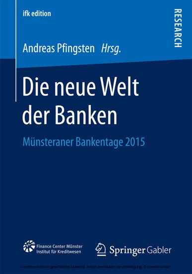 Die neue Welt der Banken - Blick ins Buch