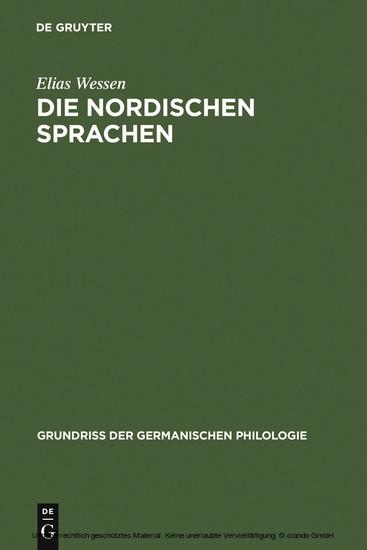 Die nordischen Sprachen - Blick ins Buch