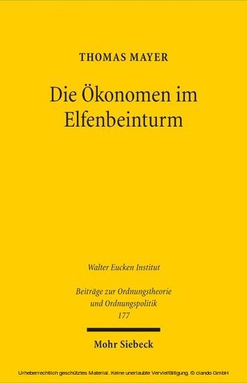 Die Ökonomen im Elfenbeinturm - Blick ins Buch