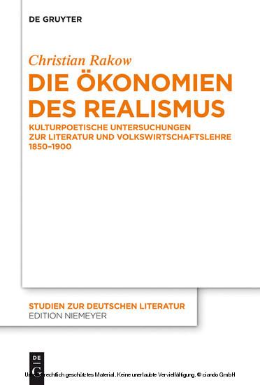 Die Ökonomien des Realismus - Blick ins Buch