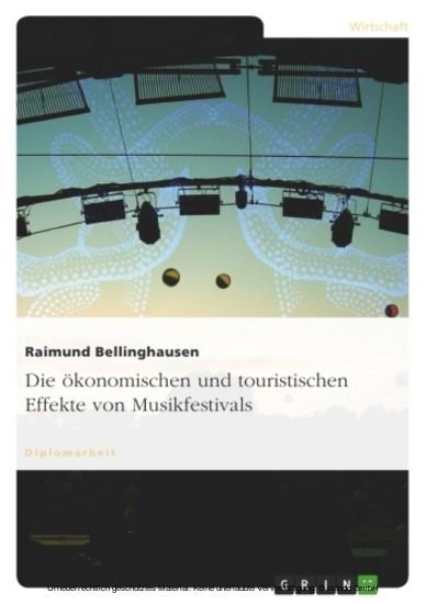 Die ökonomischen und touristischen Effekte von Musikfestivals - Blick ins Buch