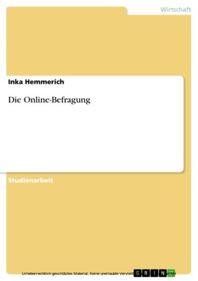 Die Online-Befragung - Blick ins Buch