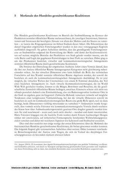 Die Produktion zentraler öffentlicher Räume in der Aufmerksamkeitsökonomie - Blick ins Buch