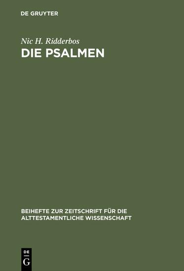 Die Psalmen - Blick ins Buch