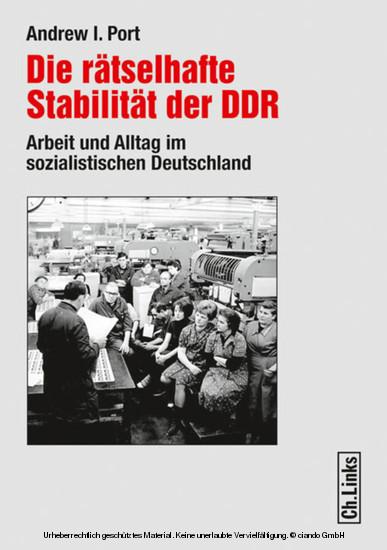 Die rätselhafte Stabilität der DDR - Blick ins Buch