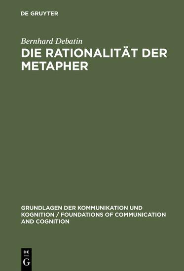 Die Rationalität der Metapher - Blick ins Buch