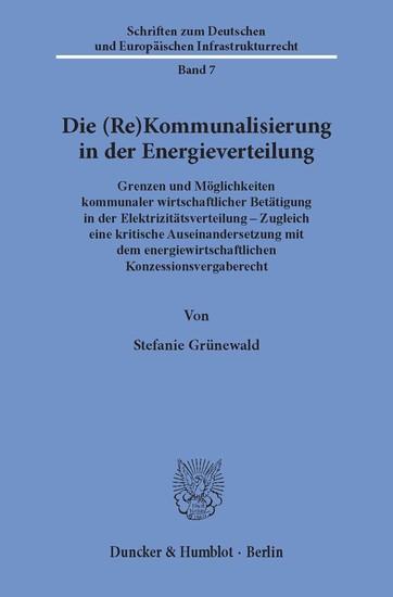 Die (Re)Kommunalisierung in der Energieverteilung. - Blick ins Buch