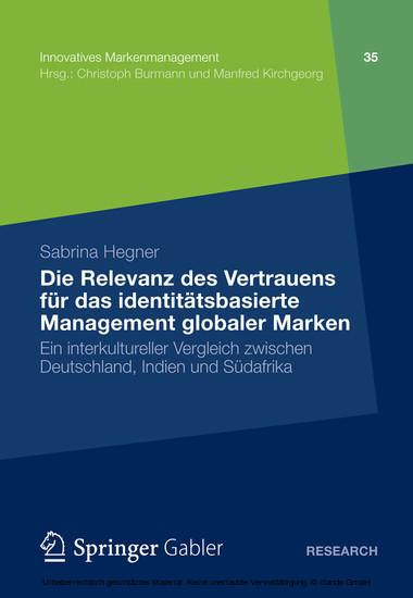 Die Relevanz des Vertrauens für das identitätsbasierte Management globaler Marken - Blick ins Buch