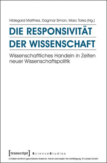 Die Responsivität der Wissenschaft - Blick ins Buch
