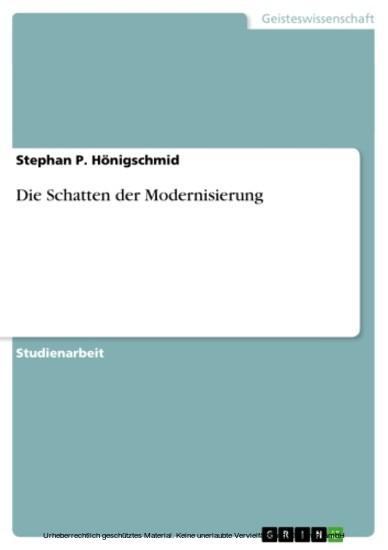 Die Schatten der Modernisierung - Blick ins Buch