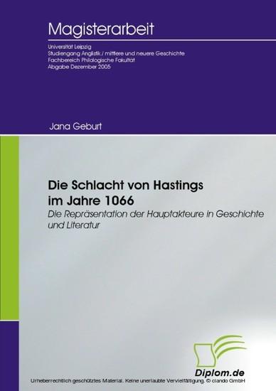 Die Schlacht von Hastings im Jahre 1066 - Blick ins Buch