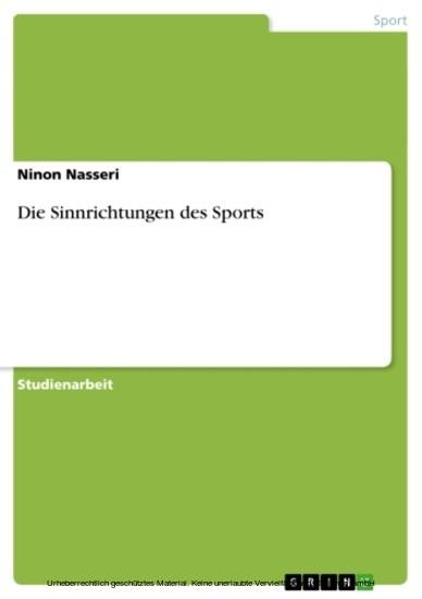 Die Sinnrichtungen des Sports - Blick ins Buch