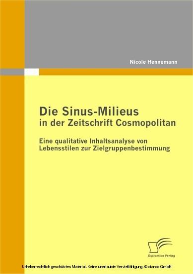 Die Sinus-Milieus in der Zeitschrift Cosmopolitan - Blick ins Buch