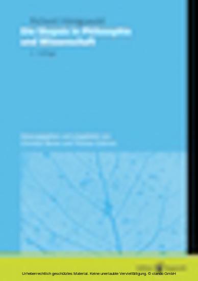 Die Skepsis in Philosophie und Wissenschaft - Blick ins Buch