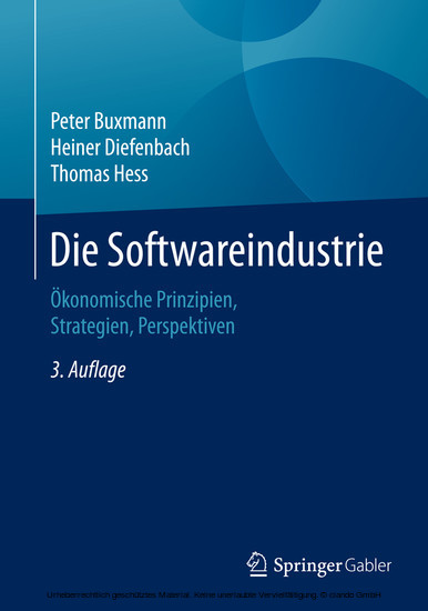 Die Softwareindustrie - Blick ins Buch