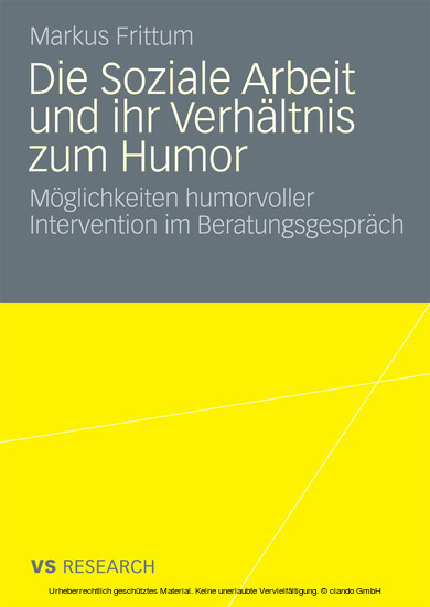 Die Soziale Arbeit und ihr Verhältnis zum Humor - Blick ins Buch