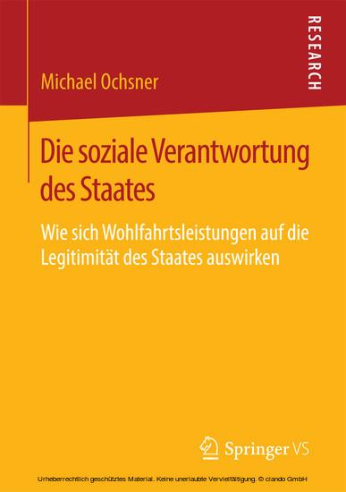 Die soziale Verantwortung des Staates - Blick ins Buch
