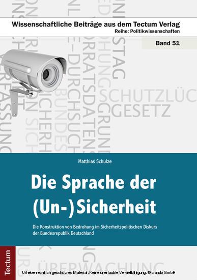Die Sprache der (Un-)Sicherheit - Blick ins Buch