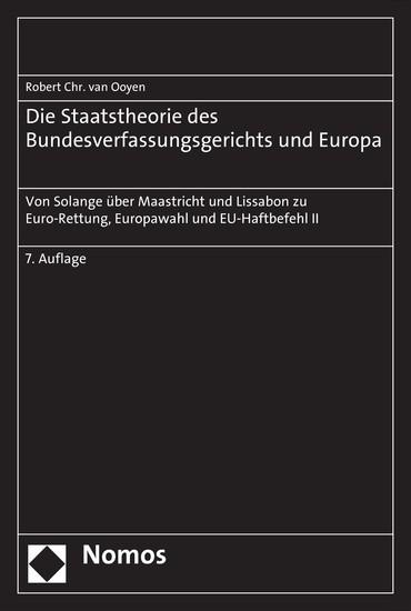 Die Staatstheorie des Bundesverfassungsgerichts und Europa - Blick ins Buch