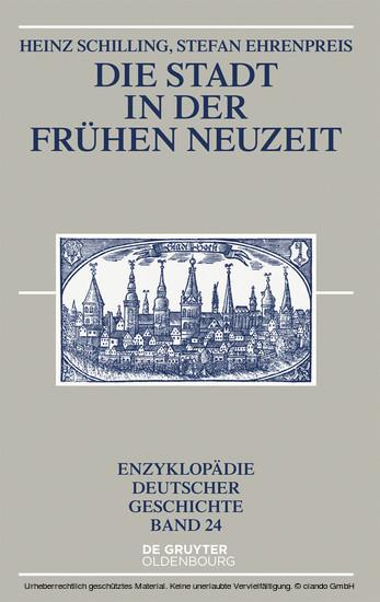 Die Stadt in der Frühen Neuzeit - Blick ins Buch