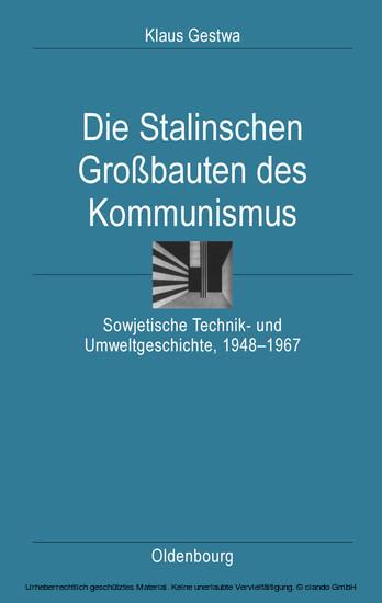 Die Stalinschen Großbauten des Kommunismus - Blick ins Buch