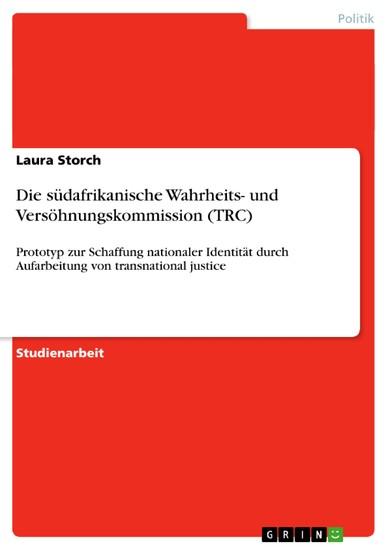 Die südafrikanische Wahrheits- und Versöhnungskommission (TRC) - Blick ins Buch
