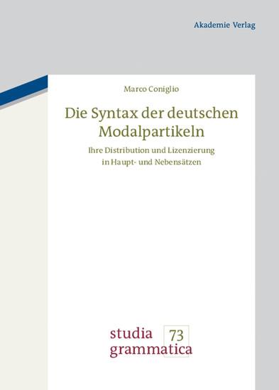 Die Syntax der deutschen Modalpartikeln - Blick ins Buch