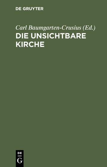 Die unsichtbare Kirche - Blick ins Buch