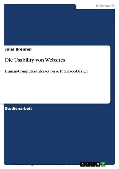 Die Usability von Websites - Blick ins Buch