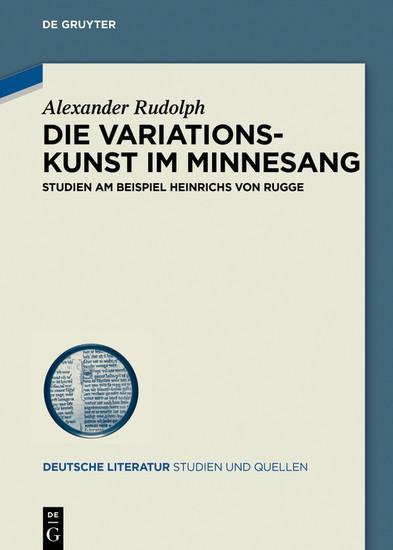 Die Variationskunst im Minnesang - Blick ins Buch