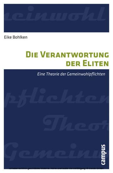 Die Verantwortung der Eliten - Blick ins Buch