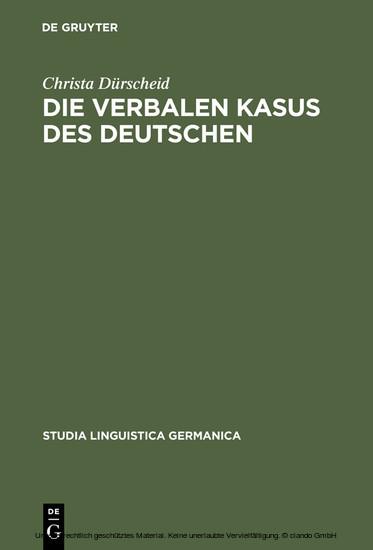 Die verbalen Kasus des Deutschen - Blick ins Buch
