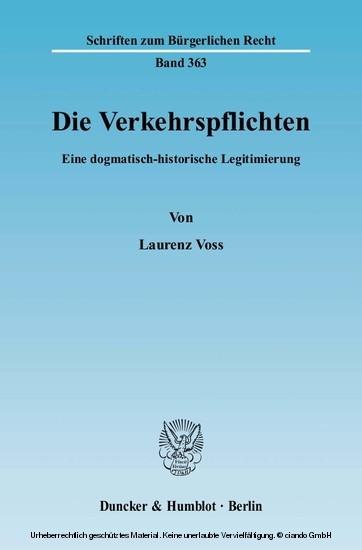 Die Verkehrspflichten. - Blick ins Buch