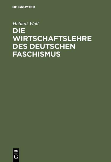 Die Wirtschaftslehre des deutschen Faschismus - Blick ins Buch