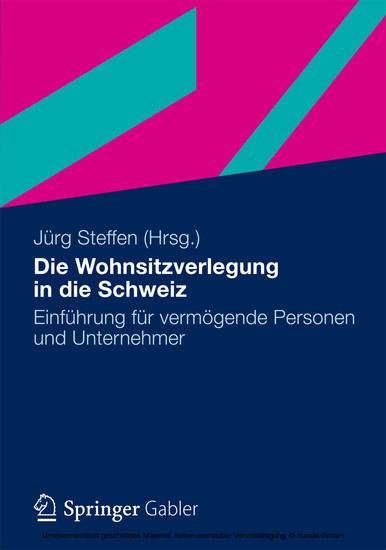 Die Wohnsitzverlegung in die Schweiz - Blick ins Buch