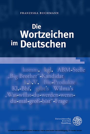 Die Wortzeichen im Deutschen - Blick ins Buch