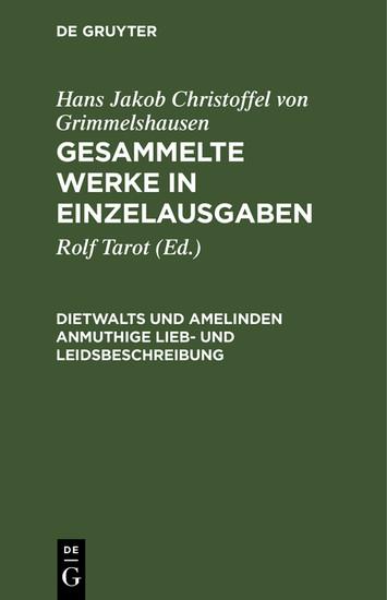 Dietwalts und Amelinden anmuthige Lieb- und Leidsbeschreibung - Blick ins Buch